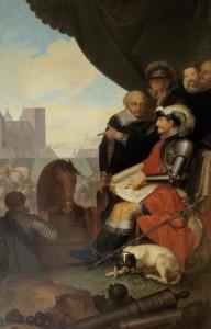 Frederik II av Danmark bygger Koldings slott med på bilden C V och tycho brahe